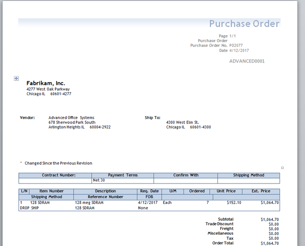 how to make purchase order in word