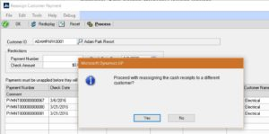 Reassign Customer Payment within Microsoft Dynamics GP-image 2