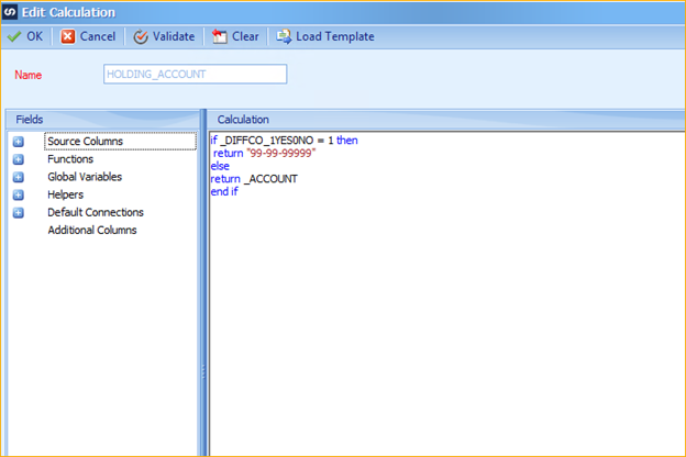 GL Intercompany Integration Calculation For Account