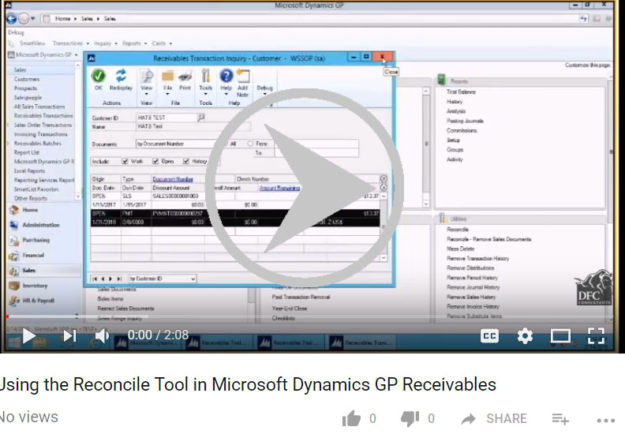 How to Run Reconcile Utilities in Microsoft Dynamics GP