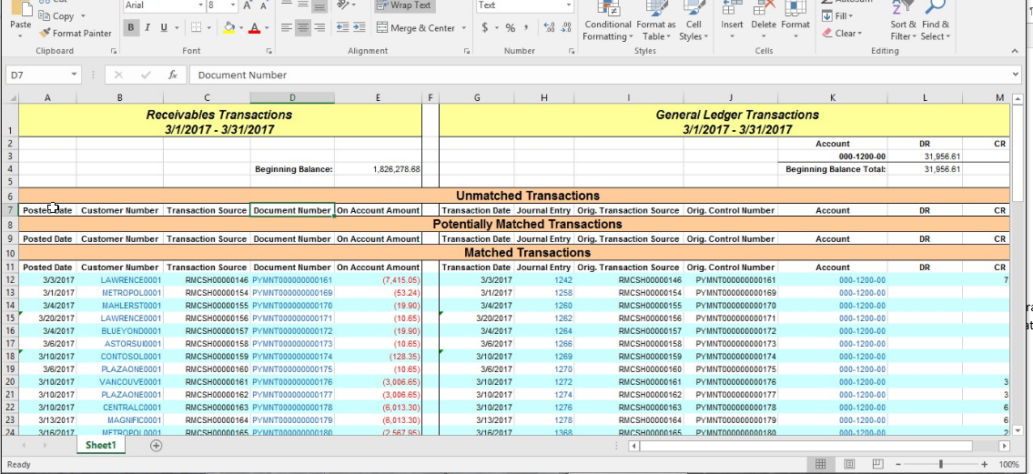 Receivables in Microsoft Dynamics GP