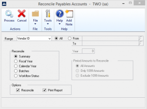 Reconcile Payables Accounts