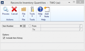 Reconcile Inventory Quantities