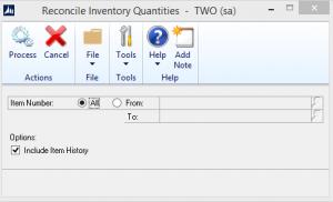 Reconcile Inventory Quantities