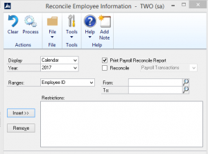 Reconcile Employee Information