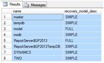 recover database run script