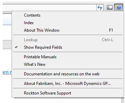 Link Fields and Required Fields in Dynamics GP