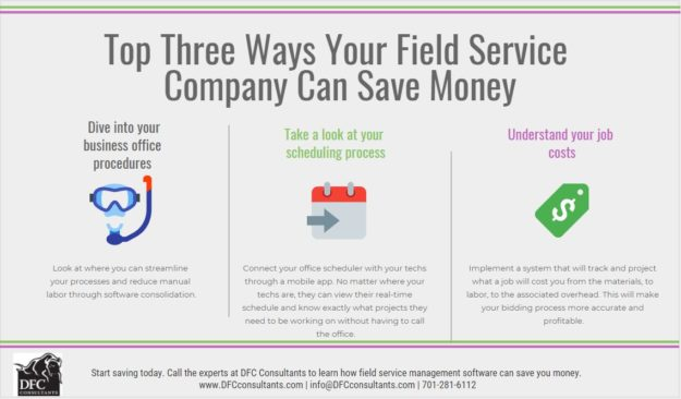 infographic how field service companies can save money