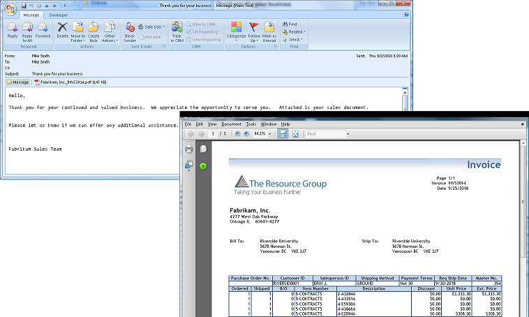 Word Forms And Email Delivery Are A Knock Out In Microsoft Dynamics